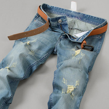 2015 New Stylish Mens Jeans Men Famous Brand Retro Wash Men Jeans Leisure Denim Pants  Size W27 W38 High Quality