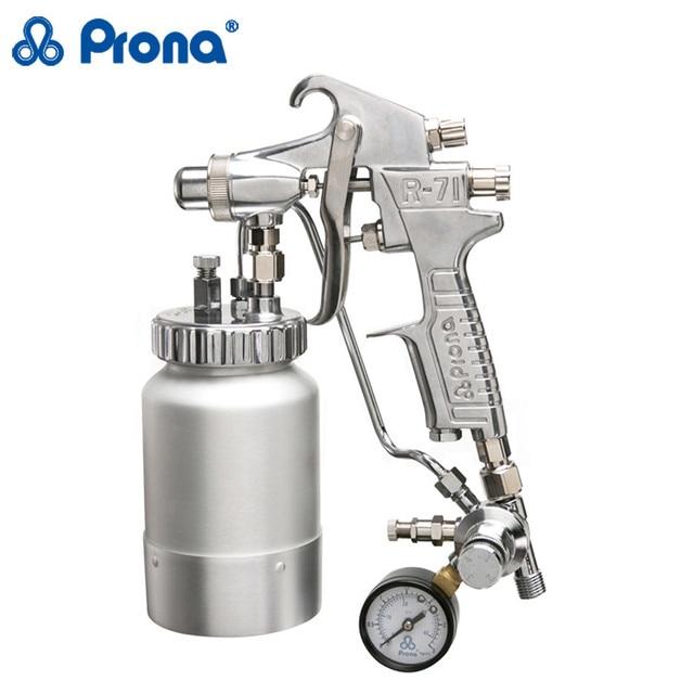 Prona SGD-71 disheveled spray gun manual spray gun with table valve paint spray gun, 0.7/2.0mm nozzle,spraying forfurniture ect