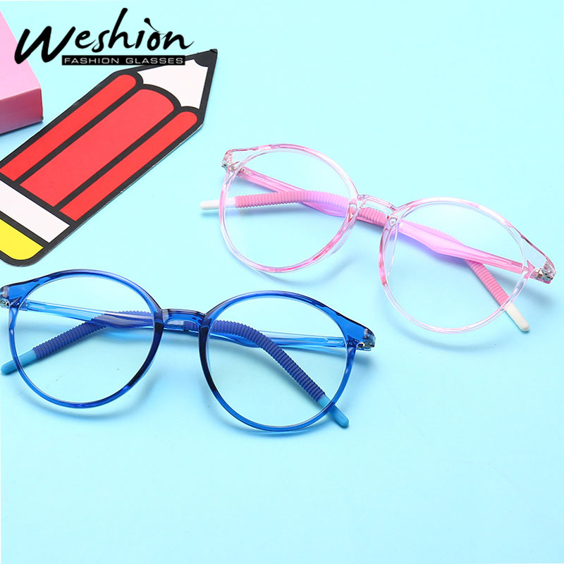 Blue light Kids Glasses Frame Optical Flexible Children Computer Blocking Clear TR90 Eyeglasses Girl Digital Strain Gaming UV400