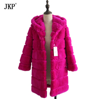 Winter Girl Children Real Rex rabbit fur coat kids warm fur jacket Thick overcoat