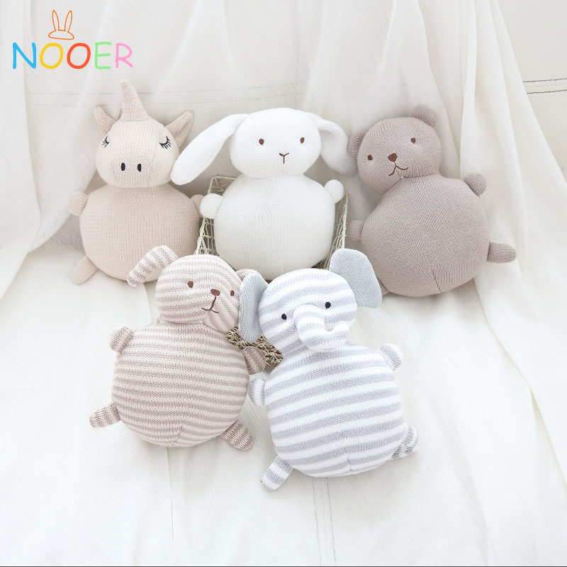 Knitted Animals Stuffed Plush Doll Handmade Unicorn Dog Birthday Gift Toys Soft