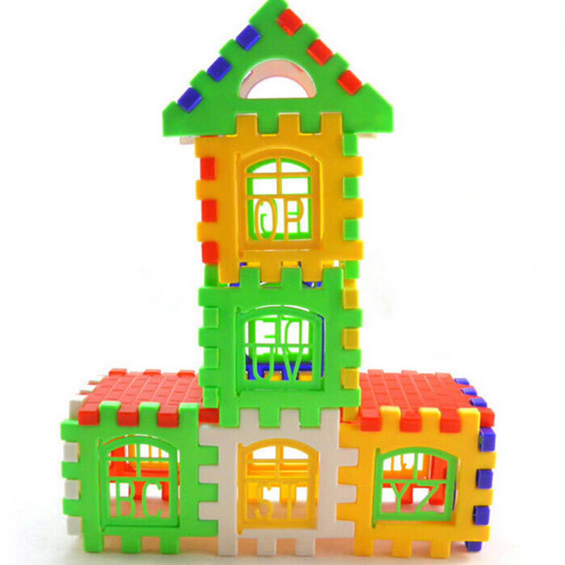 24 Pcs/1Set Bricks House Building Blocks Kids Blocks Children ...