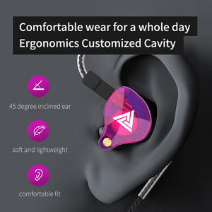 Image 5 - QKZ VK4 ZST Pro Driver Oortelefoon Afneembare Kabel In Ear Audio Monitoren Geluidsisolerende HiFi Muziek Sport Oordopjes