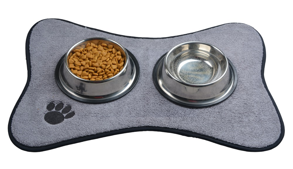 microfiber mats mat pet mats smallmedium dog bowl place mat with paw imprint design