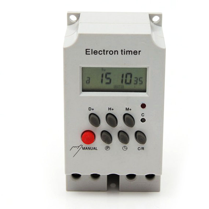 цена на New DIN RAIL DIGITAL PROGRAMMABLE timer time switch 220VAC 25A time switch din rail time switch