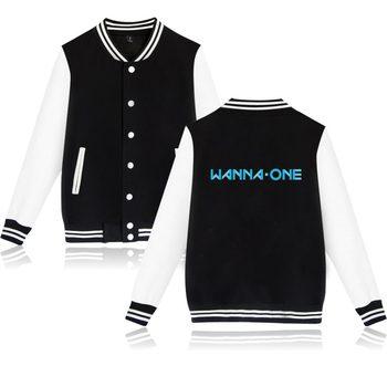 Kpop Korean New Boy Band WANNA ONE Jacket Hoodies Fashion Clothing Band Wanna One Jacket Men Women Baseball Uniform фото