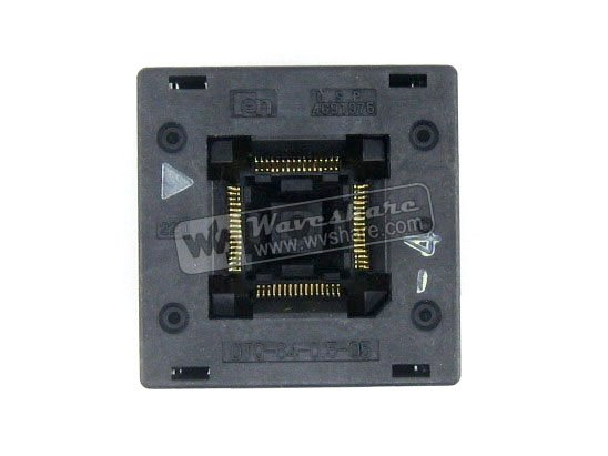 QFP64 TQFP64 LQFP64 PQFP64 OTQ-64-0.5-05 Enplas QFP IC Test Burn-In Socket Enplas 0.5mm Pitch IC Body Size10.5*10.5mm free shipping sop32 wide body test seat ots 32 1 27 16 soic32 burn block programming block adapter