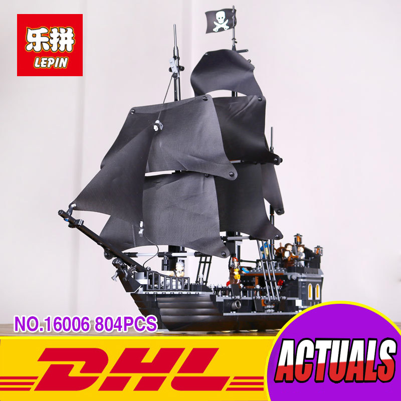 804Pcs LEPIN 16006 Pirates Of The Caribbean The Black Pearl Ship Model Building Kit Blocks BricksToy Compatible 4184 16006 804pcs pirates of the caribbean the black pearl ship model building kits blocks bricks toys gift 4184