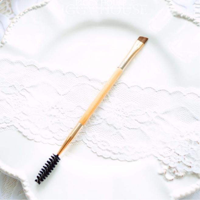 Верхняя часть 1 шт. кисть для бровей ручка для макияжа бамбуковая ручка Бриллиантовая расческа для бровей c0920