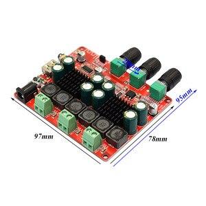 Image 4 - TPA3116 2.1 2 × 50 ワット 100 4.2 Bluetooth デジタルサブウーファーアンプ FM USB Hifi パワーアンプオーディオボード + リモコン F8 009