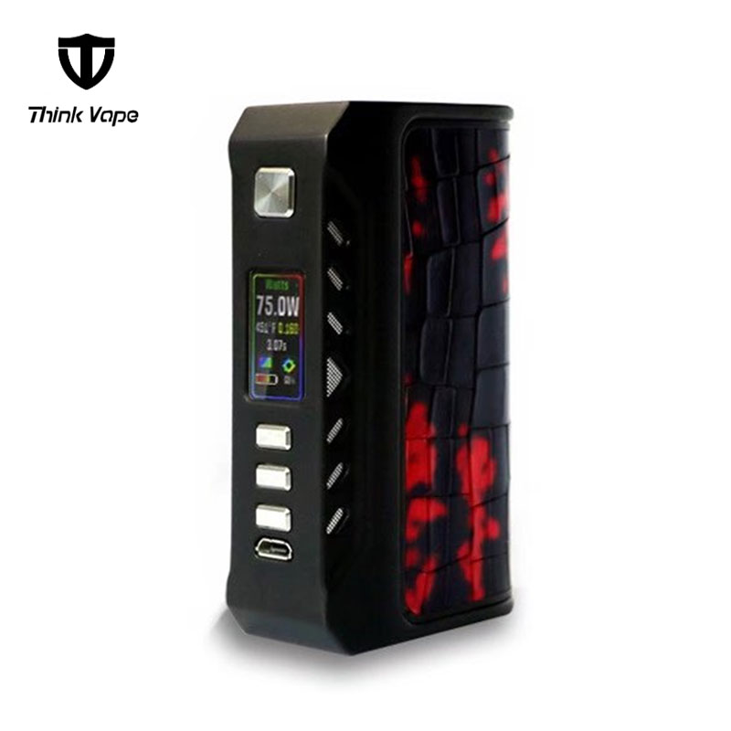 ThinkVape Finder 75W TC Electronic Cigarette Mod VW Box Mod Powered by Evolv DNA 75C chip mech mod Think vape Finder75C