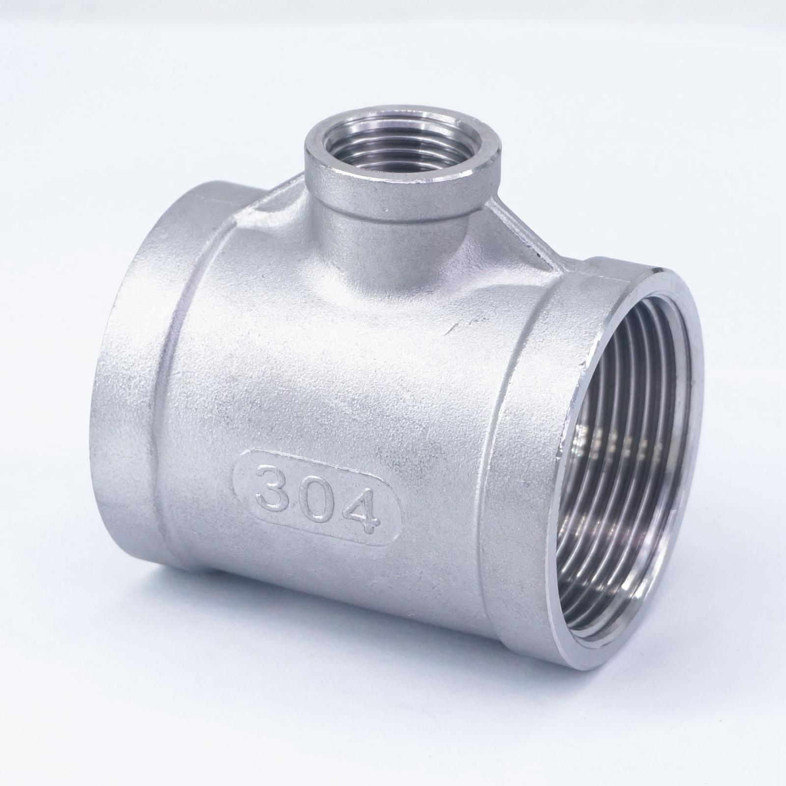 1/2 BSP To 1-1/2 BSP Female Thread 304 Stainless Reducing Tee 3 Way Connector Pipe Fitting water oil air cnz hosetail connector fitting barbed female bsp 1 1 2 inch thread set of 2