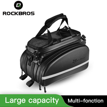 ROCKBROS Bicycle Carrier Bag With Rain Cover MTB Bike Rack Bag Trunk Pannier Cycling Multifunctional Large Capacity Travel Bag