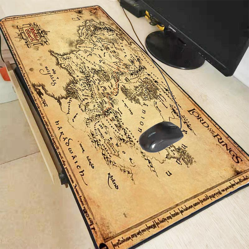 Mairuige lord of the rings map Extended Gaming Mouse Pad Mat Stitched Edges Waterproof Wide & Long Rubber Mousepad Keyboad Mat