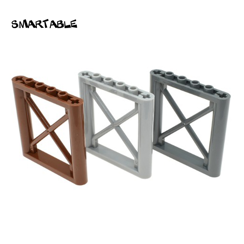 Smartable MOC Fence 1x6x5 Frame Parts Building Blocks Toys For Kids Creative Compatible Major Brands City 64448 12pcs/lot