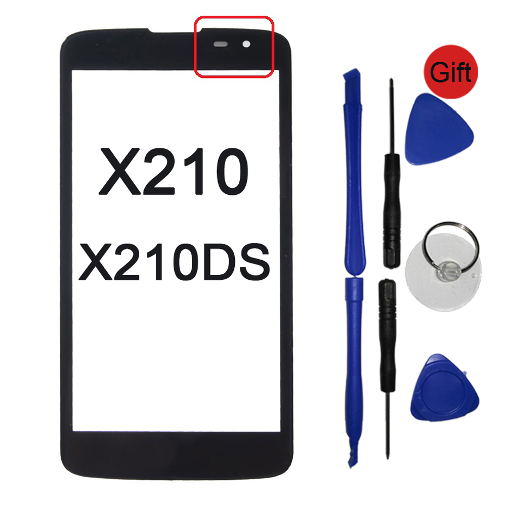 K7 Front Panel Touchscreen For LG K7 X210 X210DS LS675 Tribute 5 Touch Screen Sensor LCD Display Glass Cover Lens TP Replacement