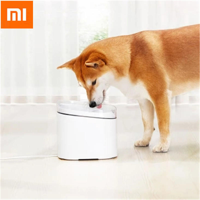 Xiaomi Mijia Creative Simple Pet Water Dispenser For Small Large Dogs Puppy Cat Drinking Bowl Home Pet Dog Feeders Pet Products 5 5l automatic pet feeder with voice message recording and lcd screen large smart dogs cats food bowl dispenser pet products