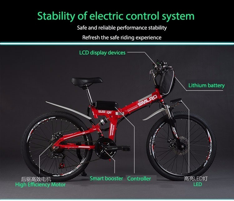 HTB1cxrPaYys3KVjSZFnq6xFzpXa4 - Inch Folding Electrical Bicycle Electrical Bicycle 48 V Lithium Battery Off Street Mountain Bike 500w Motor Drive Electrical Bicycle