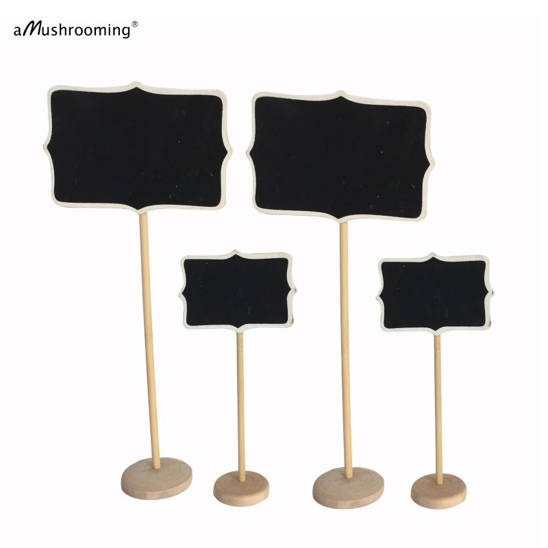 Wedding Party Decoration Wooden Framed Mini Chalkboard on Stick ...