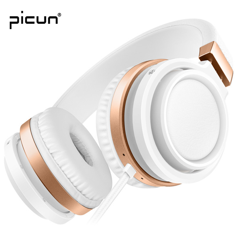 Picun C1 Over Ear Upgrade Rose Gold Headphones Music Headsets with Microphone Comfortable Protein Earpads Lightweight For PC TV наушники beats solo3 wireless on ear headphones rose gold
