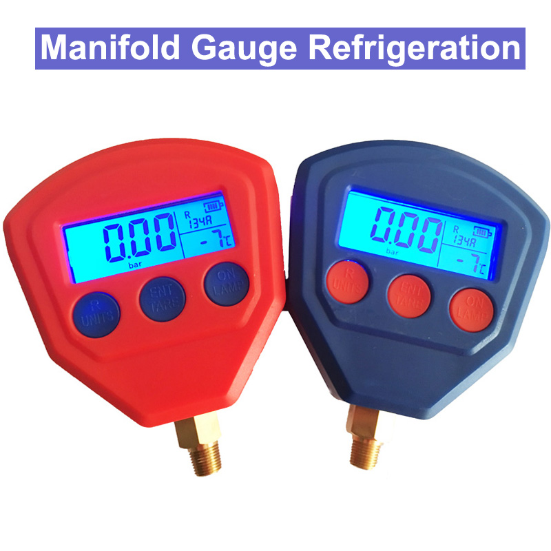 SP Manifold Gauge Refrigeration Air Conditioning Tool Set R22 R410 R407C R404A R134A air condition refrigeration tools combination tool set r410 double gauge valve expander vtb 5b