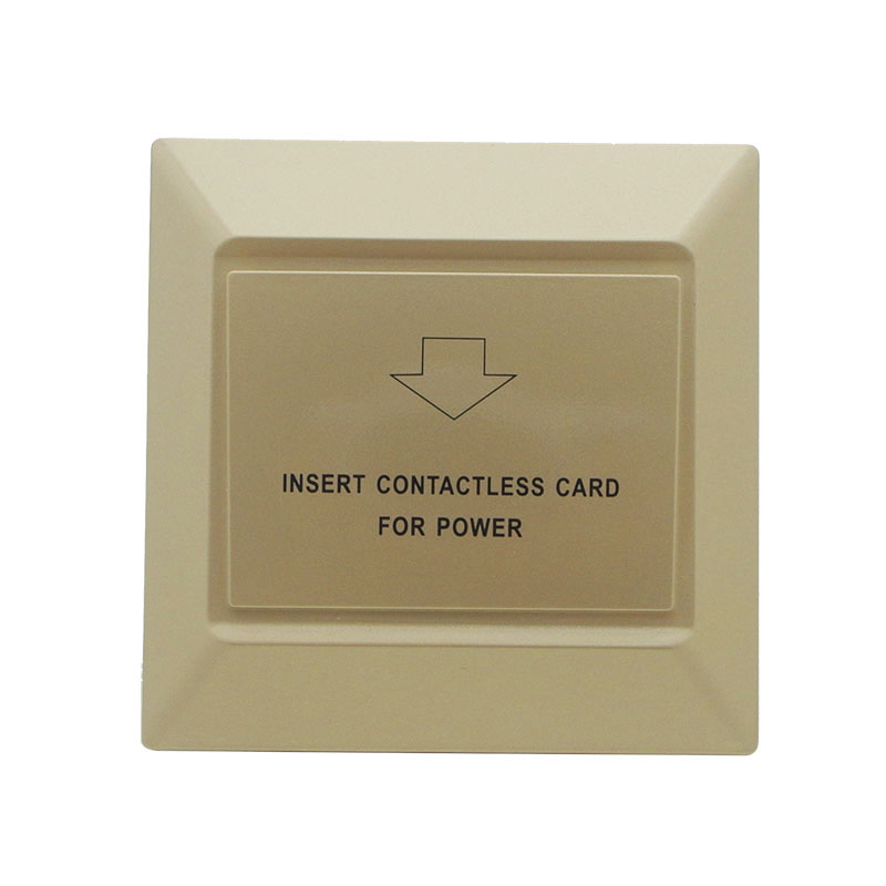 Security & Protection Access Control Accessories Sensible Energy Saver Saving Switch Hotel Guest Room Wall Reader Rfid Card Switch Gold Color 125khz Room Number And Time Limit Function