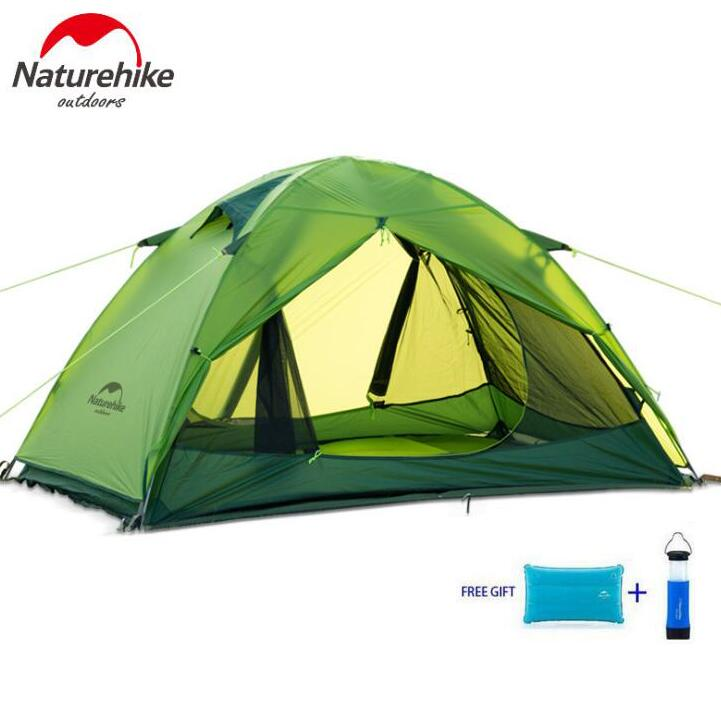 Naturehike Ultralight Outdoor Camping Tent 1-2 Person 20D Silicone Farbic Tent Four-Season Hiking Tent waterproof Moisture-proof high quality outdoor 2 person camping tent double layer aluminum rod ultralight tent with snow skirt oneroad windsnow 2 plus