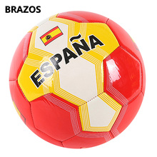 цена Outdoor Official Size 5 Soccer Ball Teenagers Football Ball PVC National Flag Futebol Training Sport Machine Seam Balls Futbol онлайн в 2017 году