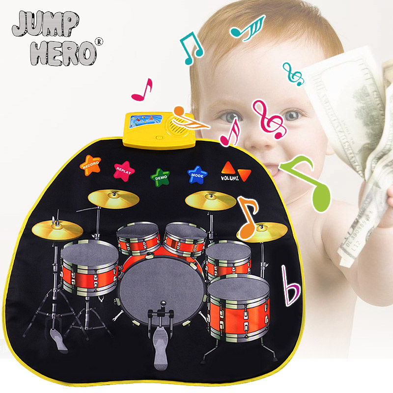 Baby Play Mat Music Drums Cloth Carpet Magic Simulation Of Drum Educational Baby Rug Cra ...