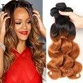 Queen hair brasileño onda del cuerpo pelo de la virgen 3 bundles ombre rubia paquetes armadura brasileña del pelo 1b 30 hj queen weave beauty hair