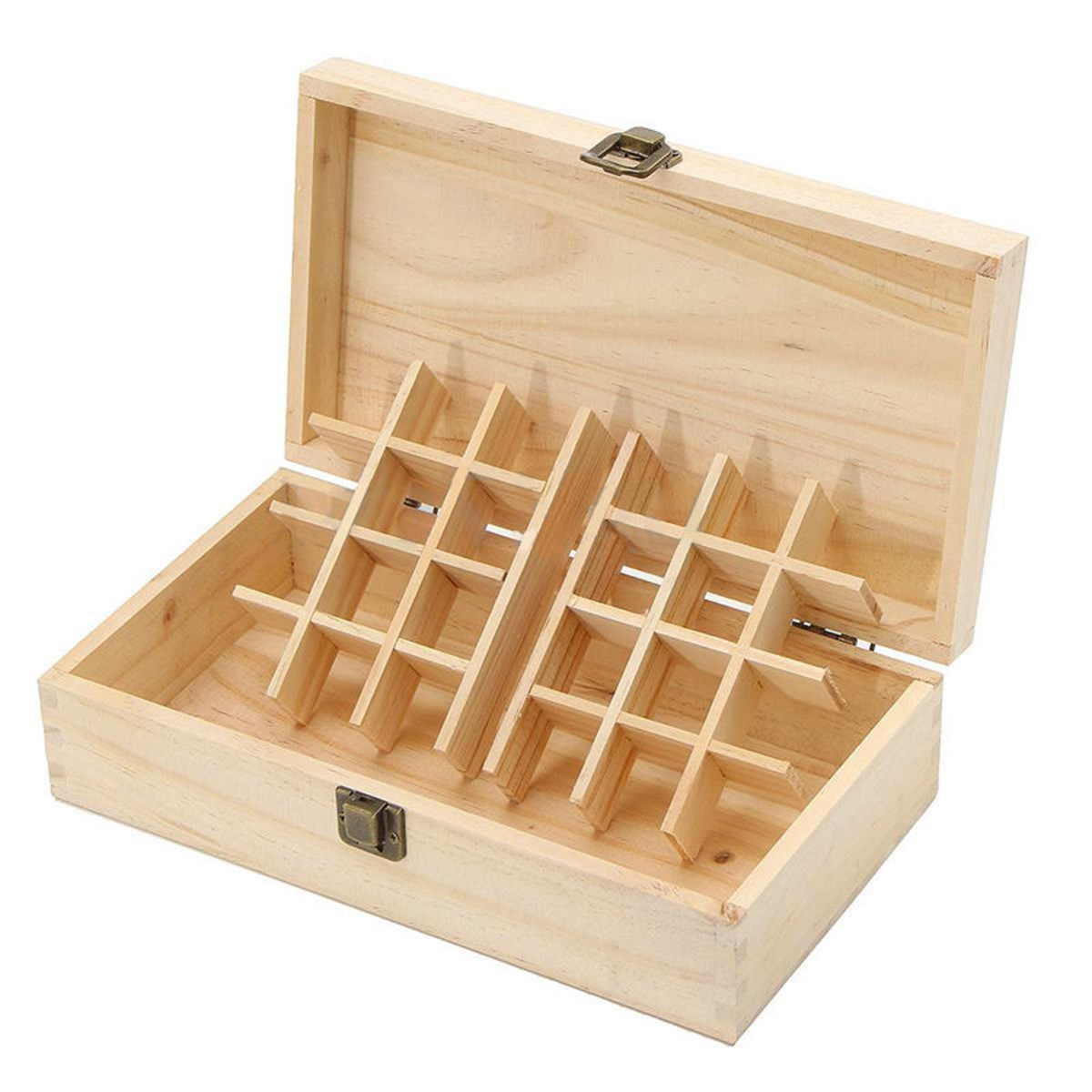 24 Slots Wooden Essential Oil Storage Box Case Holder Container Organizer Aromatherapy Home Decor Box Organization