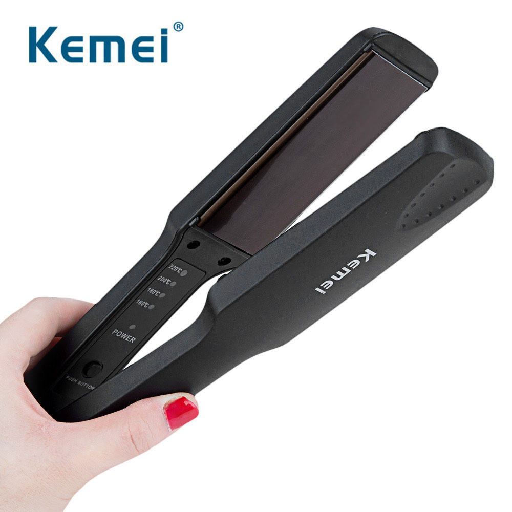 Kemei Professional Hair Straightener New Flat Iron Straightening Irons Styling Tools With Fast Warm-up Thermal Performance D40