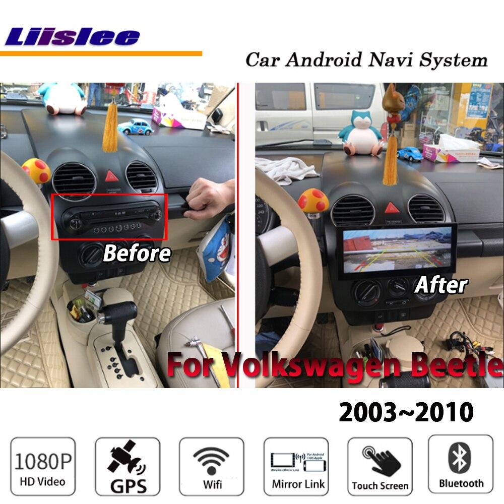 Liislee Pour Volkswagen Beetle 2003 ~ 2010 De Voiture Stéréo Android Carplay Carte GPS Navi Navigation Écran Radio Stéréo Système Multimédia