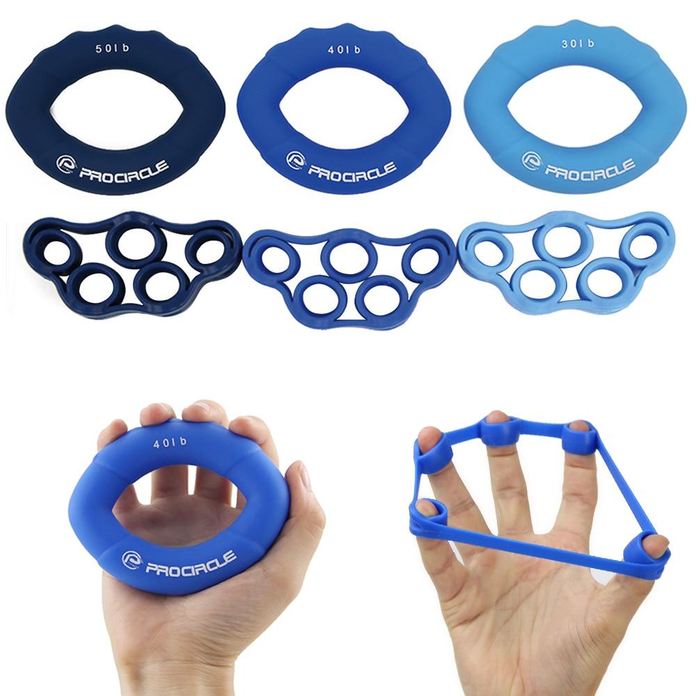 PROCIRCLE 6 шт./лот мышцы Мощность обучение силиконовые сцепление кольцо силы тренажер пальцев рук сцепление Фитнес мускулатуры оборудование
