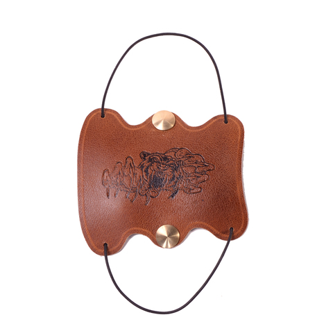 New product Brown Traditional Cow Leather Arm Restraint Arm Protector Armguard Hunting Archery Accessory Pakistan