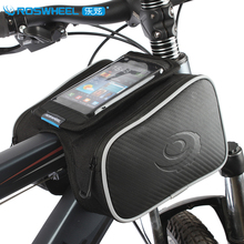 "Roswheel MTB Bike Bag Waterproof Bicycle Saddle Bag 4.5/5.5"" Touchscreen Phone Case Cycling Top Front Tube Bag Bike Accessories"
