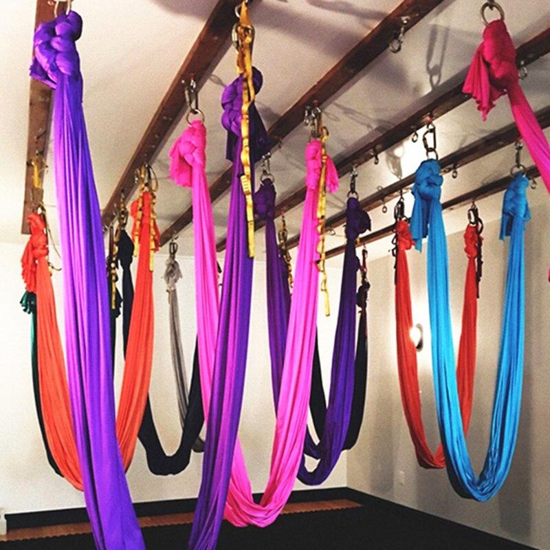 Hamaca de yoga antigravedad de alta calidad conjunto completo dispositivo de tracción aérea Fitness para yoga para estudio de yoga swing (5x2,8 m)-in Bandas de resistencia from Deportes y entretenimiento on AliExpress - 11.11_Double 11_Singles' Day 1