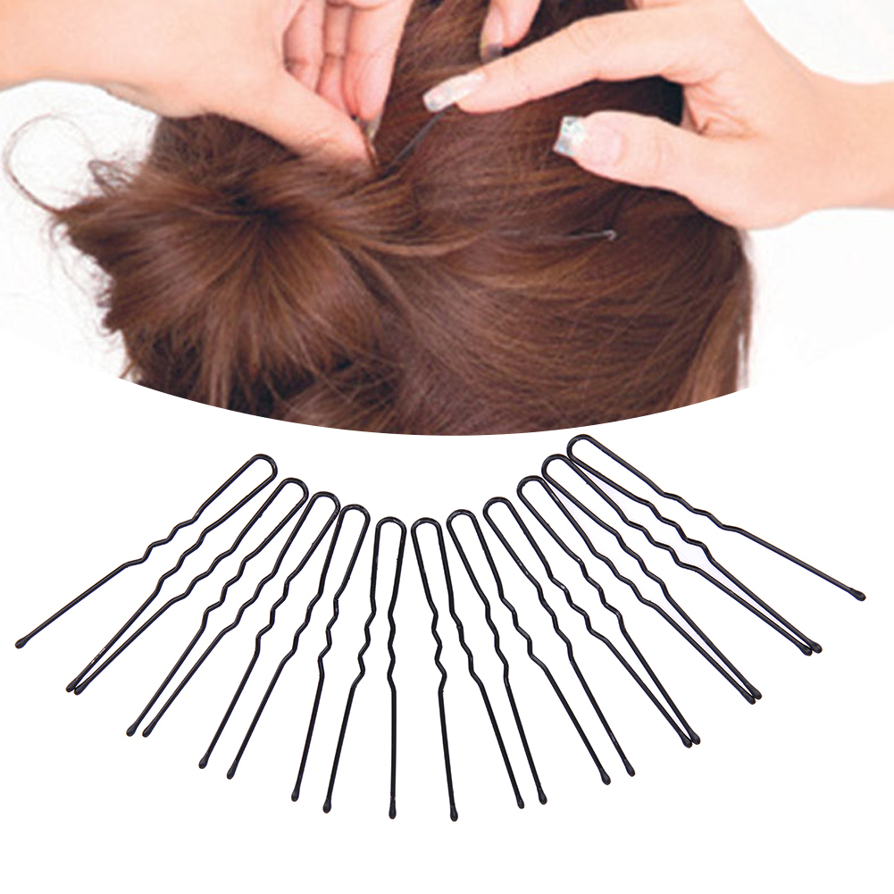 100pcs 5/6/7CM Hair Waved U-shaped Bobby Pin Barrette Salon Grip Clip Hairpins Black Women Girl Hair Styling Tools Dropshiping