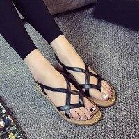 Sandals Women Flat Shoes Bandage Bohemia Leisure Lady Casual Sandals Peep Toe Outdoor Chaussures Femme Ete