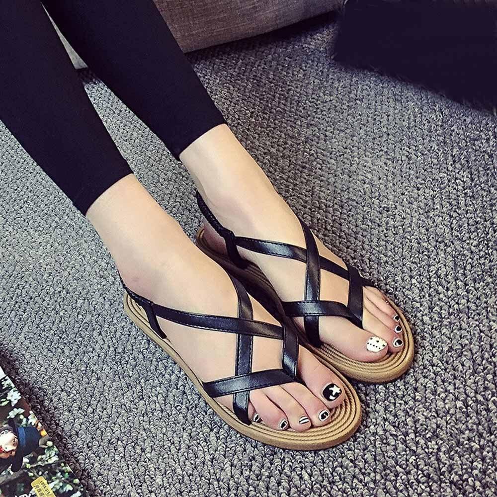 Frauen Sandalen Frauen Schuhe Frauen Schuhe Weichen Frauen Casual Sommer Schuhe Weibliche Zip Plus Größe 35-43 Sandalen Strand Schuhe Frauen Jan11