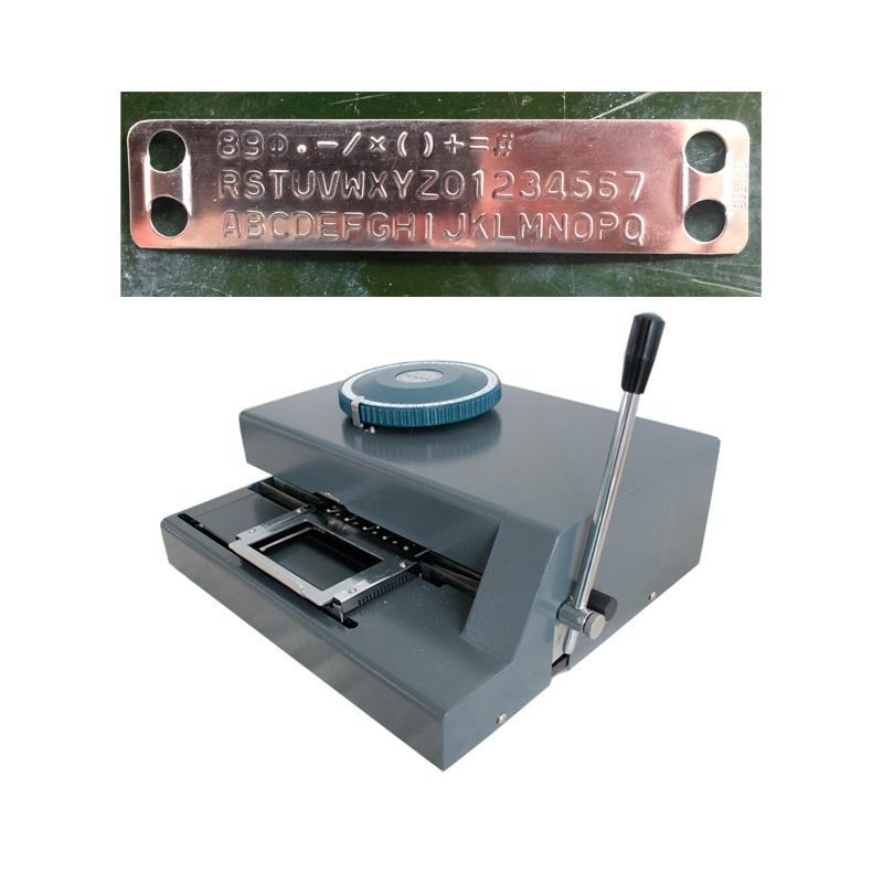 Low Price Small Size Sheet Metal Number Plate Stainless Steel Tags Embossing Machine