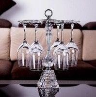 Bar Accessories Wine Cup Shelf Home Furnishing Crystal Base Glass Holder Frame Hanging Upside down Goblet Wine Rack
