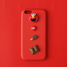 3D Sesame Street Cute Cartoon Cookie Elmo Soft leather case for iPhone 5 S 6 7 8 plus X XR XS MAX Funny Ultra Thin Phone cover