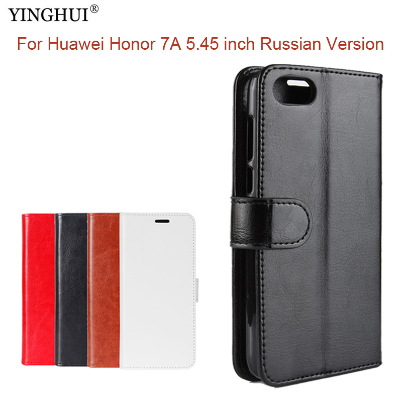 For Huawei Honor 7A 5.45 inch Russian Version Case Flip PU Leather Stand Case For Honor 7A Russian Version Book Style Cover