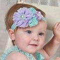 Twdvs 2016 trabajo hecho a mano de la perla 6 estilos mix 4 amplia hairband de la flor del bebé venda de la flor del bebé vendas de las muchachas accesorios para el cabello