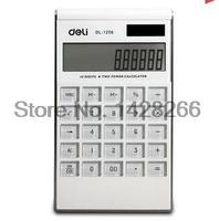 2016 Time Limited Calculator Calculadora Deli Stationery Calculator 1256 Dual Power Computer Crystal Buttons Slim Free