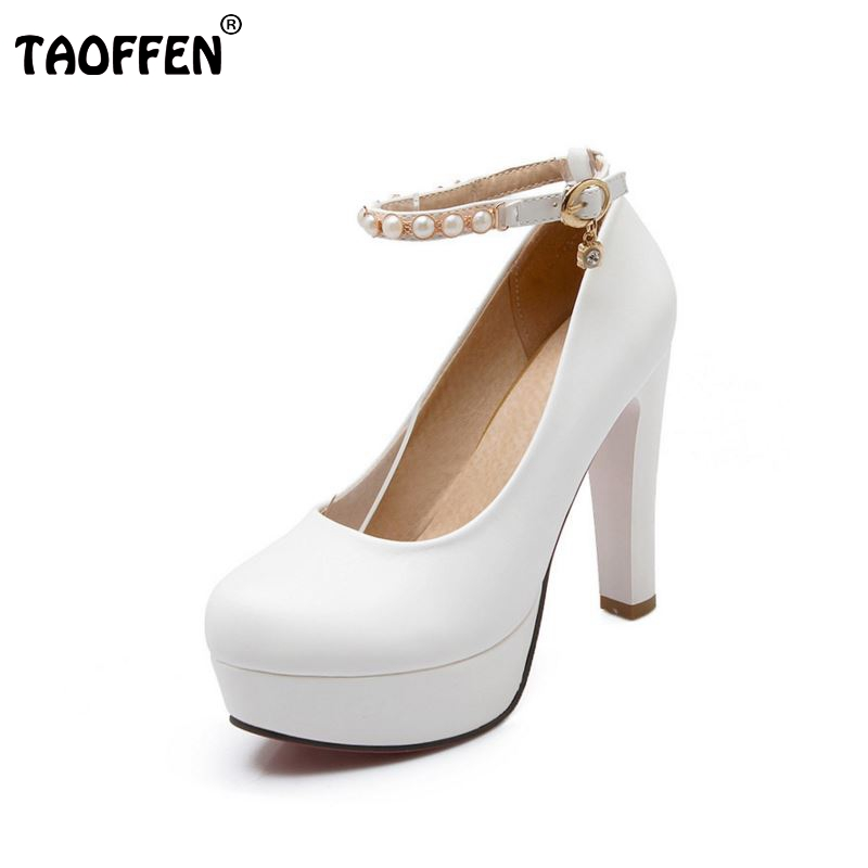 size 32-43 women gentelwomanly party shoes platform ankle strap high heel pumps fashion heeled sexy heels footwear P23151 big size 32 43 fashion party shoes woman sexy high heels platform summer pumps ankle strap sandals women shoes