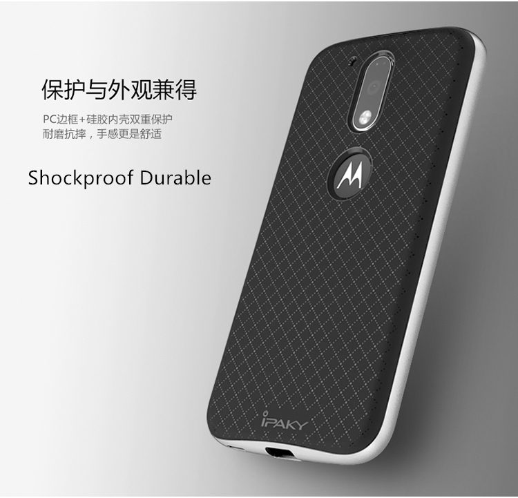 low priced 9e852 75f89 US $4.99 |for Motorola Moto G4 Plus Case Cover iPaky Hard Plastic + Soft  TPU Silicone 2 in 1 Back Case for Moto G4 Cover Protective Shield-in Fitted  ...