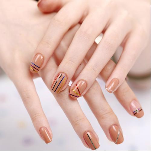 Nail Art Using Painters Tape: Hot Sale 100PCS Mix Color Rolls Striping Tape Line Nail