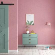 Скандинавские Ins Классические однотонные розовые серии настенные бумаги домашний декор Мода для девочек комната Свадьба комната обои рулон